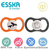 Esska Happy Glow  Halloweensmokker, symmetriske, silikon, str.2 (svart, orange)