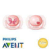 Philips Avent Ultra Soft smokker, symmetriske, silikon, str. 1